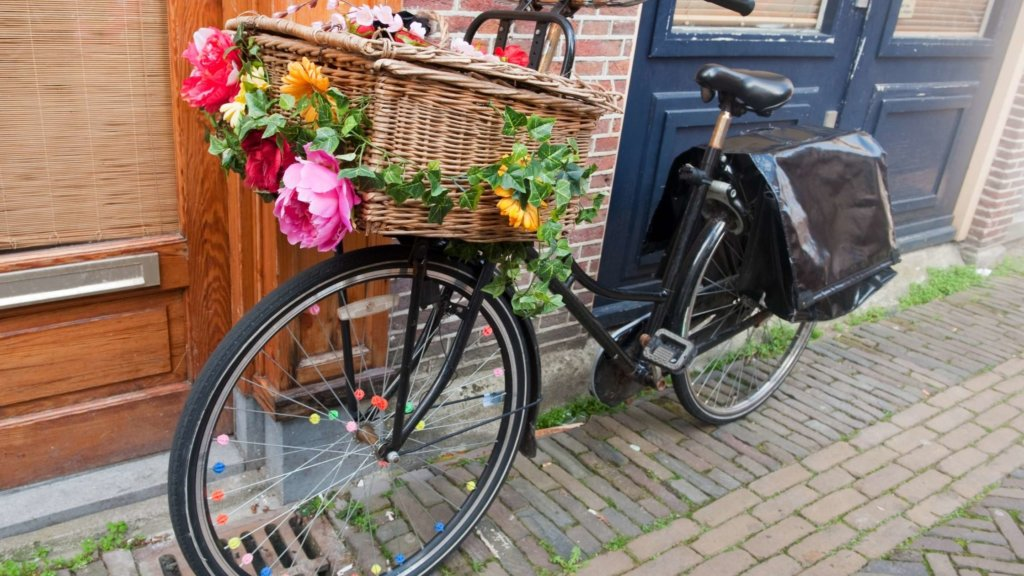 dutch bicycle with basket