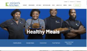 screenshot of miriams kitchen website