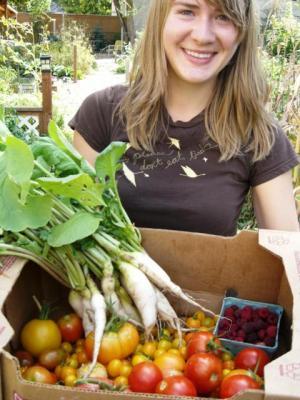 Gardener Helping Food Pantries