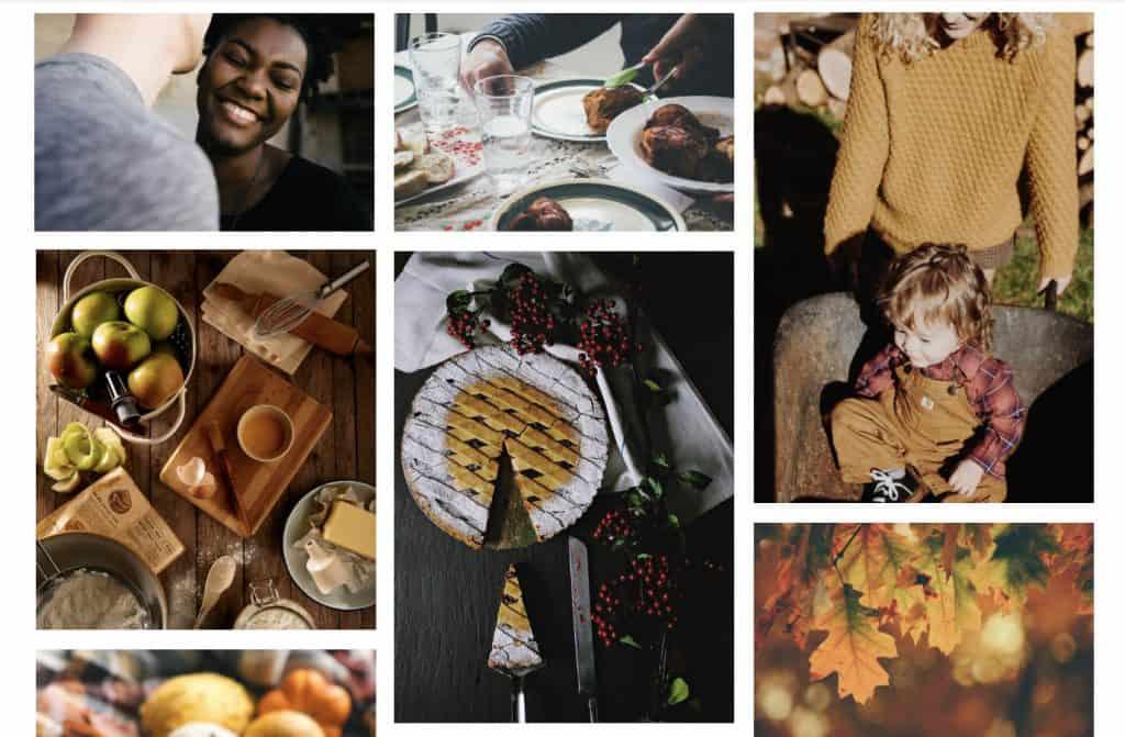 Series of seasonal fall photos
