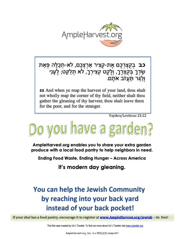 AmpleHarvest.org flier for your local Synagogue