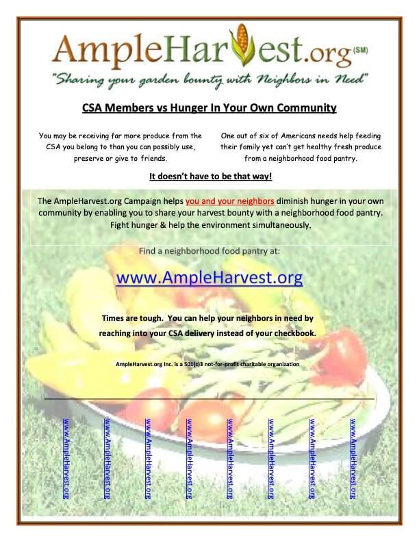 AmpleHarvest.org CSA flyer
