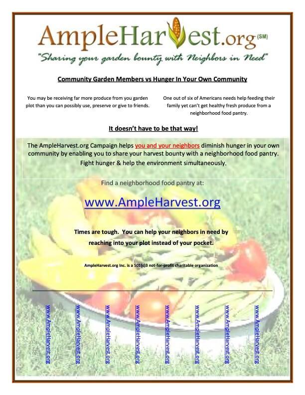 AmpleHarvest.org community garden flyer
