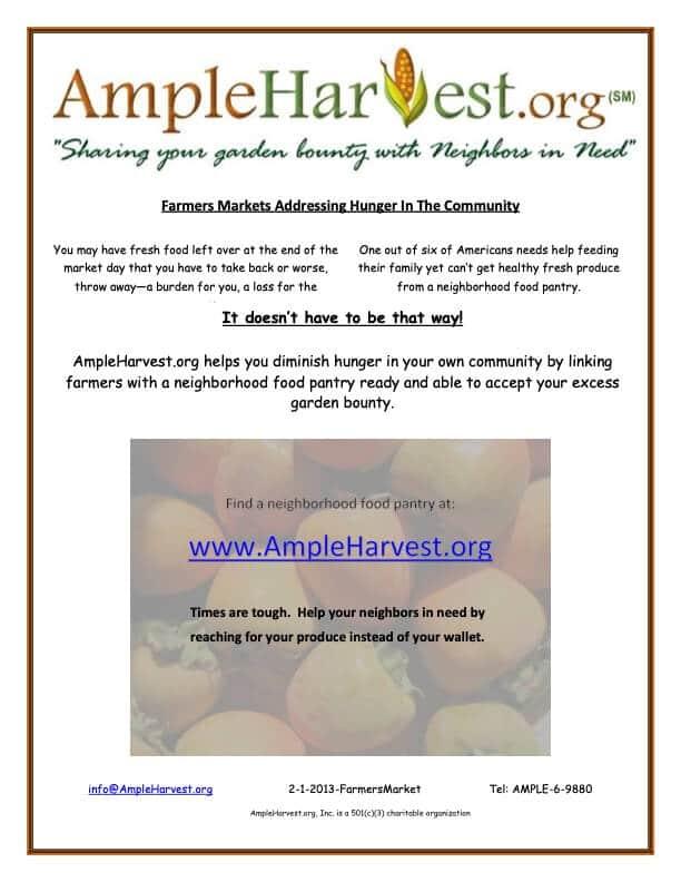 AmpleHarvest.org farmers market flyer